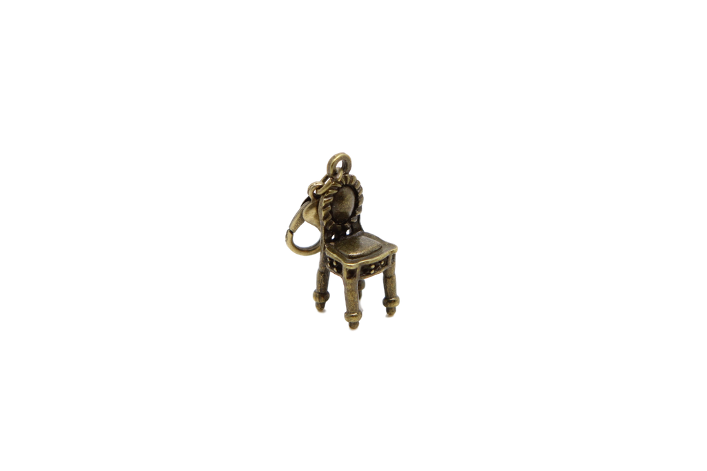 Chair Bronze Charm Clip on Bead for Charm Bracelets Charms necklace floating charms - Pendants and Charms