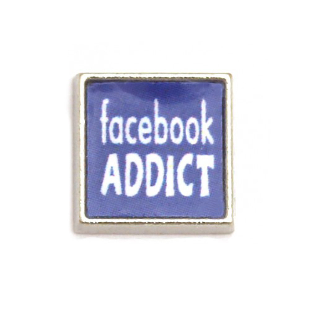 Floating charms facebook addict and 5 birthstones locket Charm Bracelets necklace - Pendants and Charms