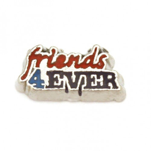 Floating charms friends forever and 5 birthstones locket Charm Bracelets necklace - Pendants and Charms