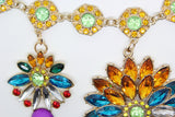 Bright Colours flower Statement Necklace - Pendants and Charms
