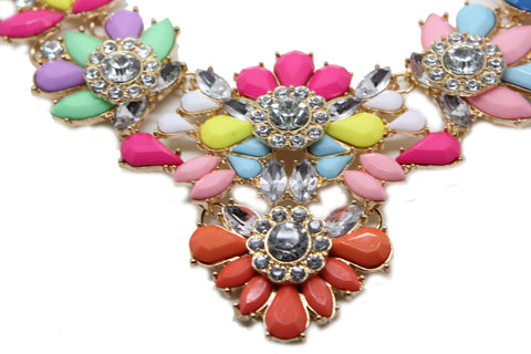 Bold Colours  flower Statement Necklace - Pendants and Charms