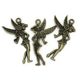 "Charm Pendants Angel Bronze Tone 3.6cmx1.9cm(1 3/8""x6/8"") - Pendants and Charms"