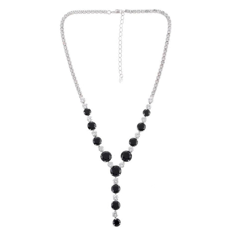Black  starlight silver tone  necklace - Pendants and Charms