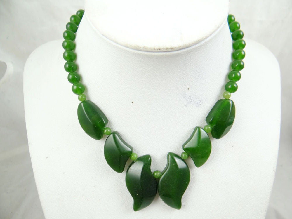 Natural green SEDIMENT JASPER agate Handmade Gemstone Jewellery Necklace - Pendants and Charms