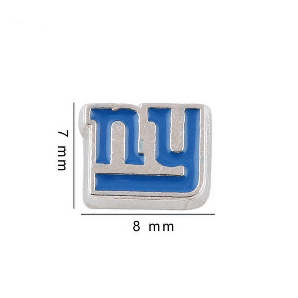Copy of Floating charms NY NEW YORK Cap  5 Birthstones locket Charm Bracelets necklace - Pendants and Charms