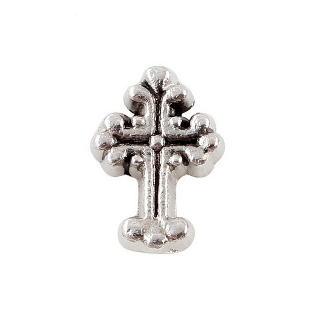Floating charms S 5 Birthstones locketilver Cross Charm Bracelets necklace - Pendants and Charms