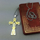 Mens Women's Hot new  Stainless Steel Cross crucifix pendant Necklace P008 - Pendants and Charms