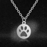 Best Friend Paw Stainless Steel Necklace