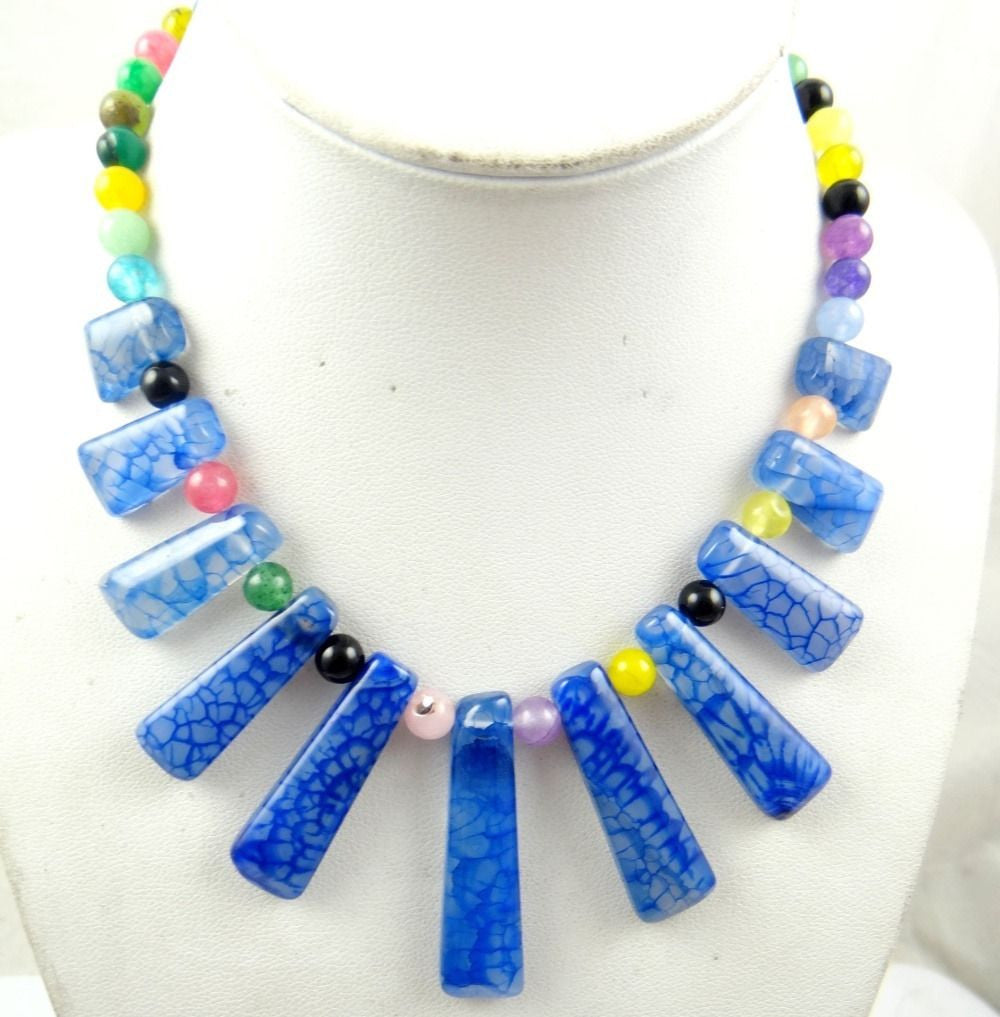 Blu sediment jasper gate Handmade Gemstone Jewellery Necklace - Pendants and Charms