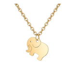Friendship Elephant Necklace Stainless Steel Pendant Necklace Wish Card