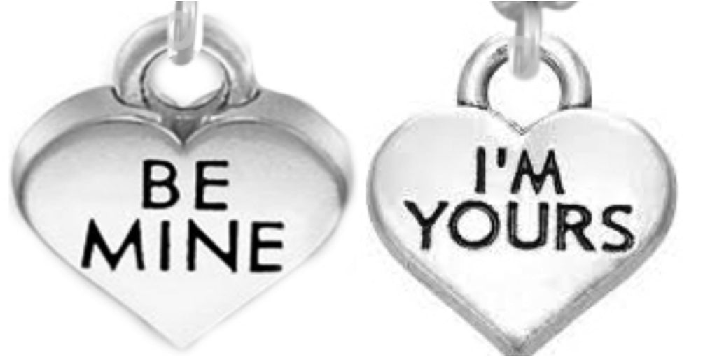 Be mine i am yours couple best friends old silver quotes charms be mine i am yours couple best friends old silver quotes charms pendant necklace for 2 mozeypictures Gallery