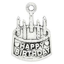 Happy Birthday  Message Charms silver tone meaning word charm pendants - Pendants and Charms