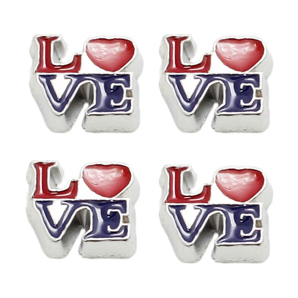 Love Floating charms and 5 birthstones locket Charm Bracelets necklace - Pendants and Charms