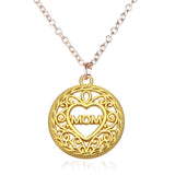 Mum, Mom, Mother necklace choice of pendant, silver and gold tone chain Short Pendant Necklace - Pendants and Charms