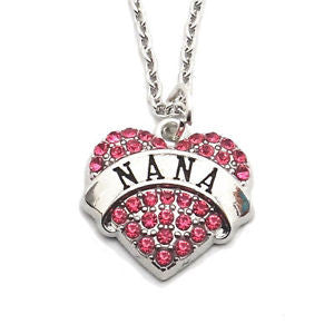 NANA Crystal Pink Heart Charm Pendant Necklace - Pendants and Charms