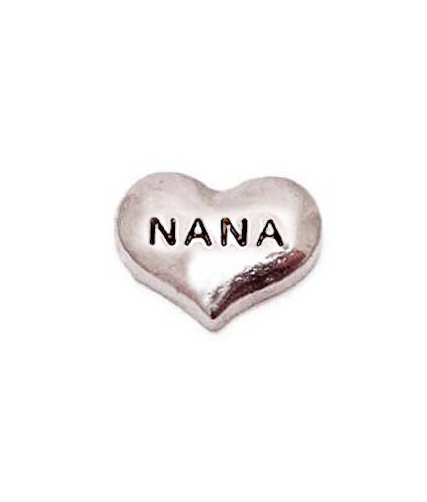 Floating charms SilverHeart Nana 5 Birthstones locketilver Cross Charm Bracelets necklace - Pendants and Charms