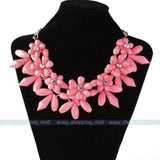 Women Charm Crystal Choker Chunky Statement Bib Necklace  Chain - Pendants and Charms