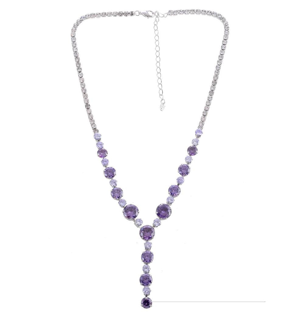 Purple starlight silver tone  necklace - Pendants and Charms
