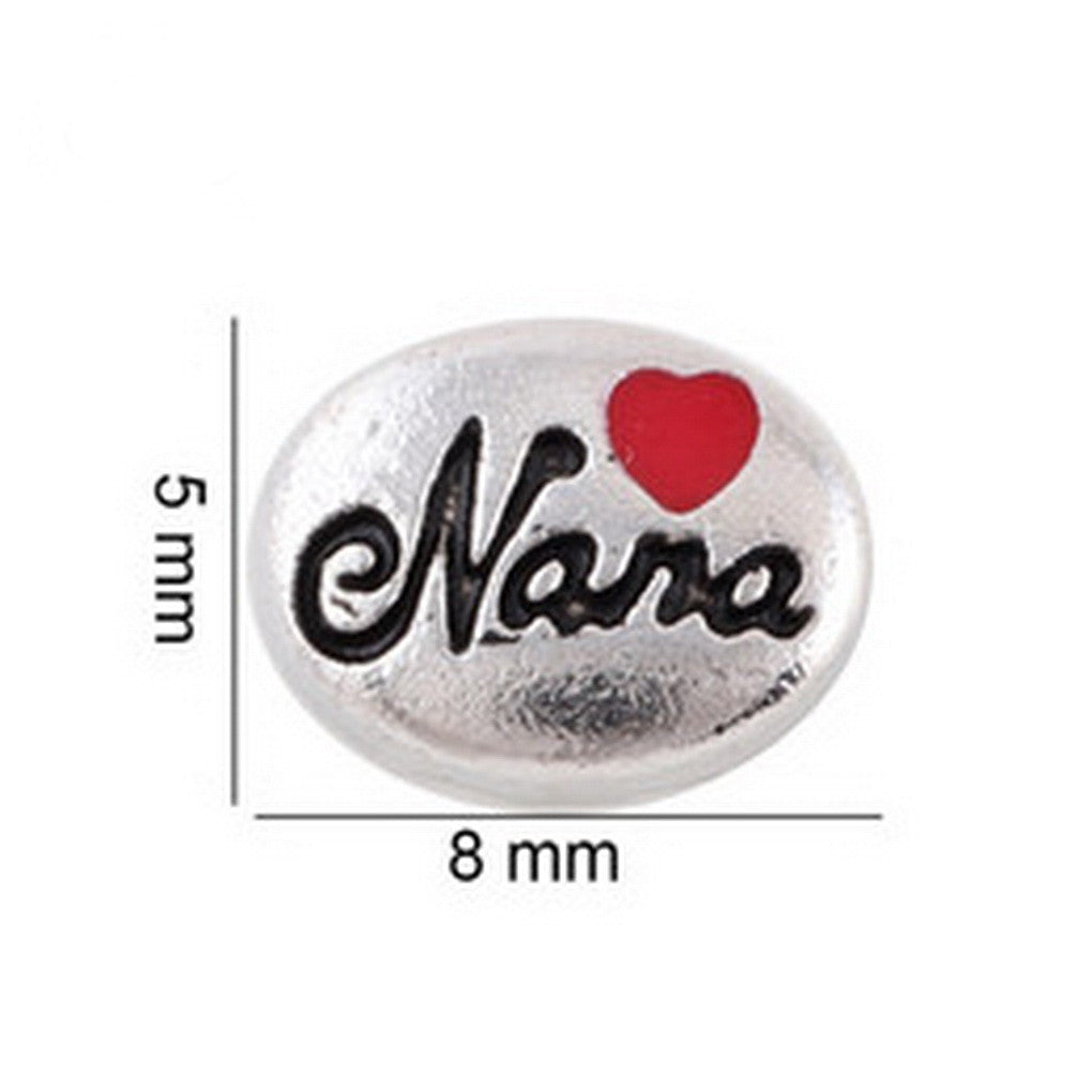 Floating charms Nana and 5 Birthstones locket Charm Bracelets necklace - Pendants and Charms