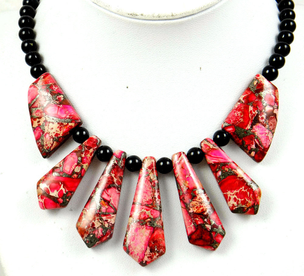 Rose sediment Handmade Gemstone Jewellery Necklace - Pendants and Charms