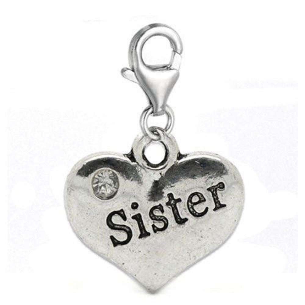 Sister message charms silver tone meaning word charms for floating sister message charms silver tone meaning word charms for floating necklace chain bracelet aloadofball Choice Image