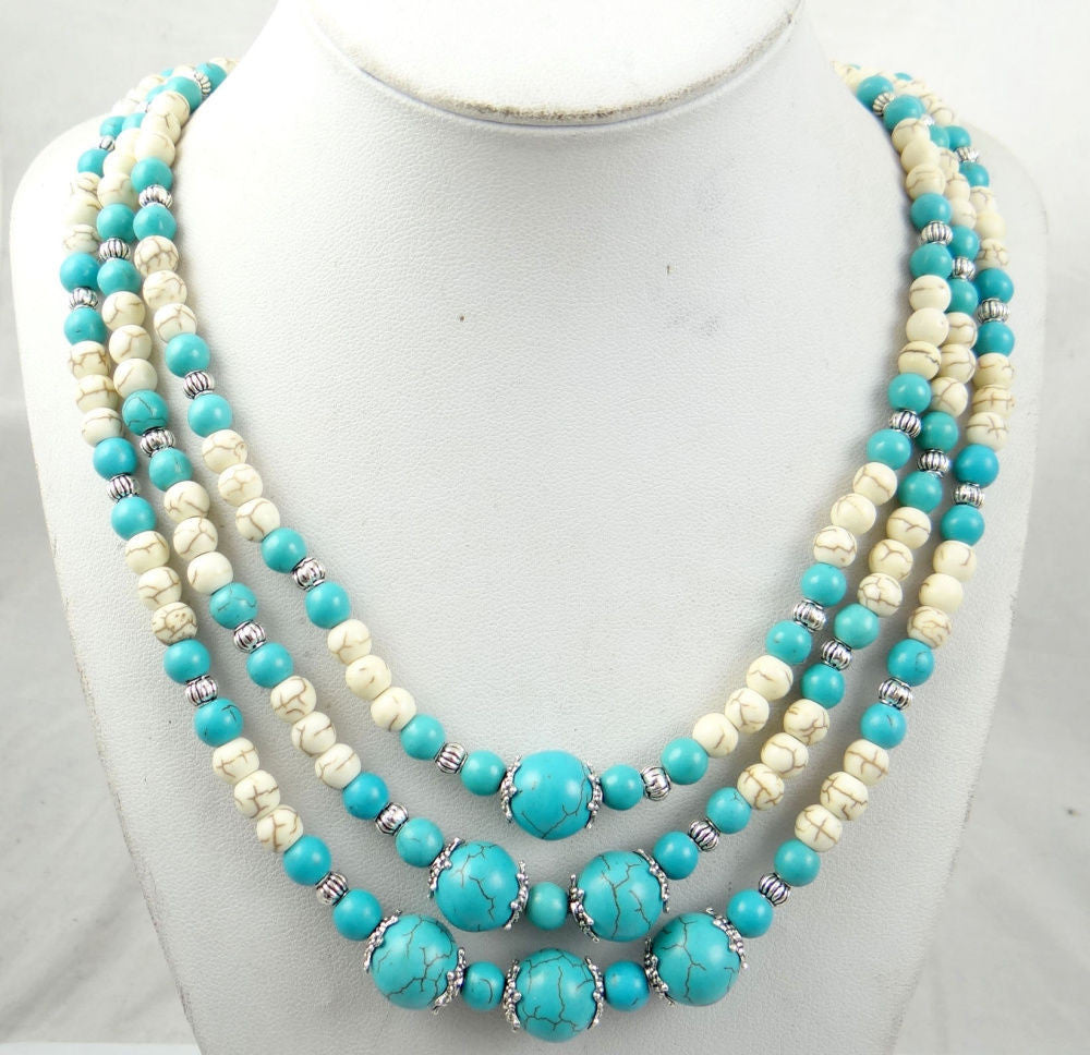 turquoise Handmade Gemstone Jewellery Necklace TN2 - Pendants and Charms