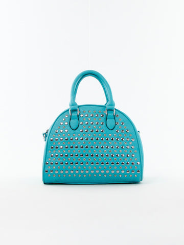 Studded Round Satchel - D0157 TL - Focus Handbags - 1