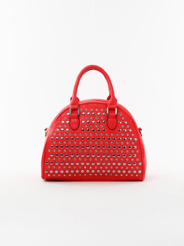 Studded Round Satchel - D0157 DSA - Focus Handbags - 1