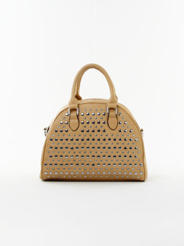 Studded Round Satchel - D0157 TP - Focus Handbags - 1