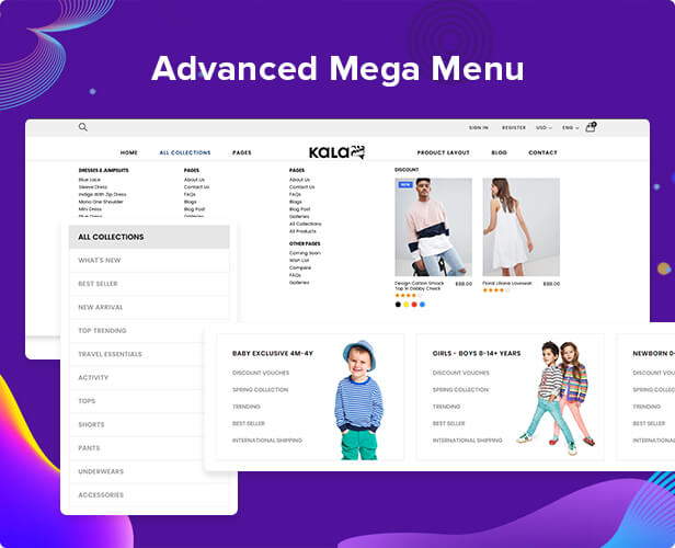 shopify mega menu