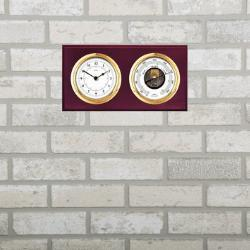 wall clock with barometer