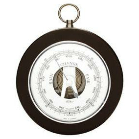 Barometer Black and Chrome