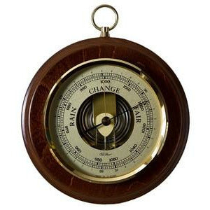 Walnut and Brass Fischer Barometer Pascal