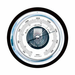 Modern Black and Chrome  Barometer