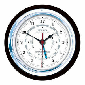 German made Black and Chrome Fischer Tide Clock