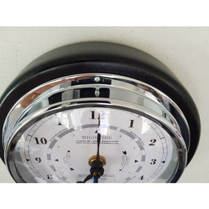 Black and chrome tide clock