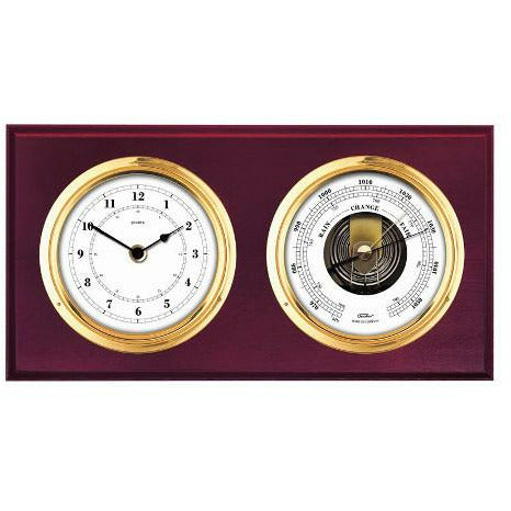 Barometer & Clock Combination