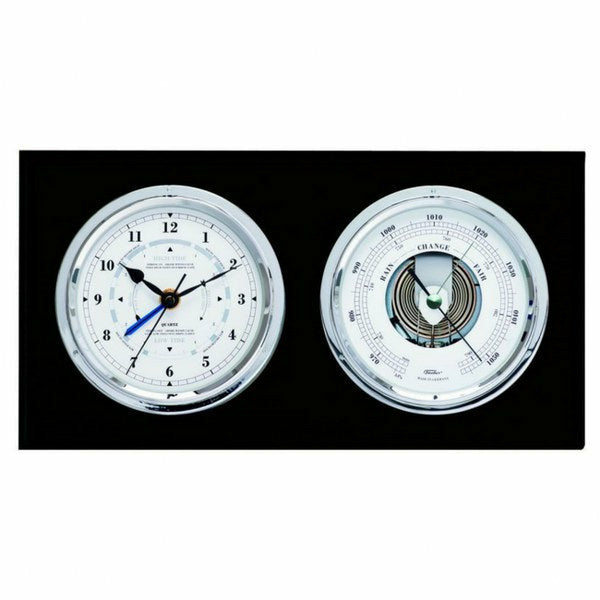 Black and Silver Tide and Time Clock Front