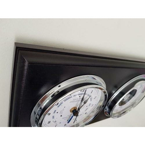 Black and Silver Tide and Time Clock Above