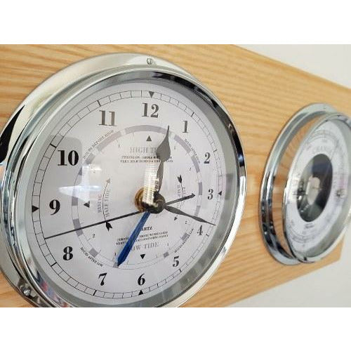 Ash & Chrome Barometer Tide Clock