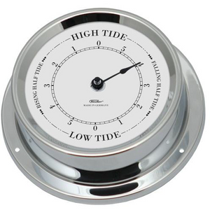 Chrome nautical  tide clock