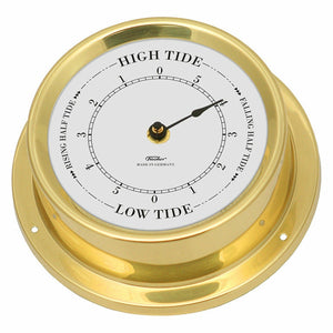 Small brass tide clock