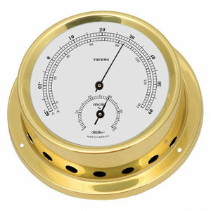Brass Thermometer and hygrometer wall mounted