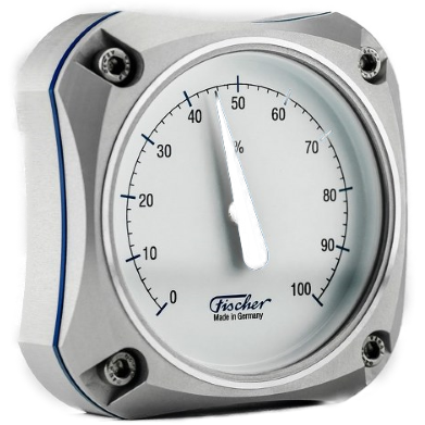 This beautiful silver hygrometer is part of the Fischer Edition