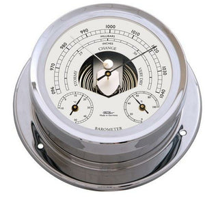 Chrome Fischer Weatherstation with Barometer/Temperture/Hygrometer