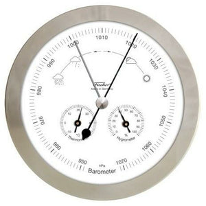 Modern Round Stainless Weather Instrument made by fischer Germany