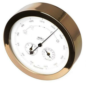 Weather station stainless steel gold coated