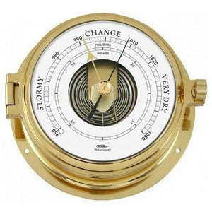 Solid Nautical Brass Fischer Barometer Navigator