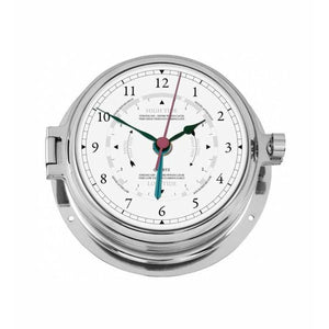 Nautical Chrome Tide Clock Navigator
