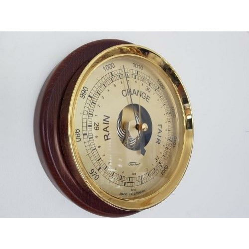 Stunning extra large wooden barometer